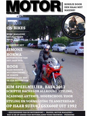 I Did my thesis for MOTOR Magazine, my big question was; How to make the magazine more attractive for the women who ride bikes or want to ride bikes. I did the research, with interviews and surveys and finally made my conclusion.