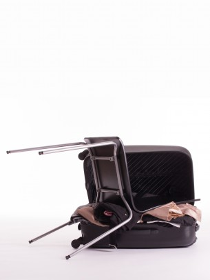 My final project for my study.  A lot of people travel nowadays and to find your rest during your trip is becoming more difficult.  This product, with inspiring graphics based on all the roads and ways you travel, also brings a little rest during your trip.   You never have to bring your own chair with you, with this product you are always rested.  I also made a stand for the product, this is a place were you can sit on the product and try it yourself!